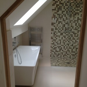 Bath, Towel Radiator and Shower