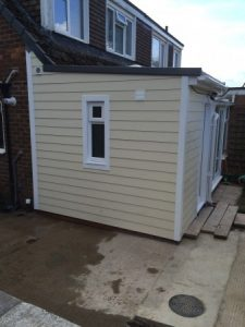 Timber framed rear extension in High Lane, Stockport
