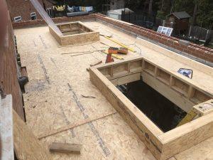 Preparing roof for fibre glass coating