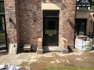 Building a porch out of reclaimed materials in Cheadle Hulme
