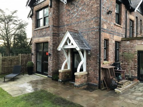 Stunning open porch using reclaimed materials in Cheadle Hulme