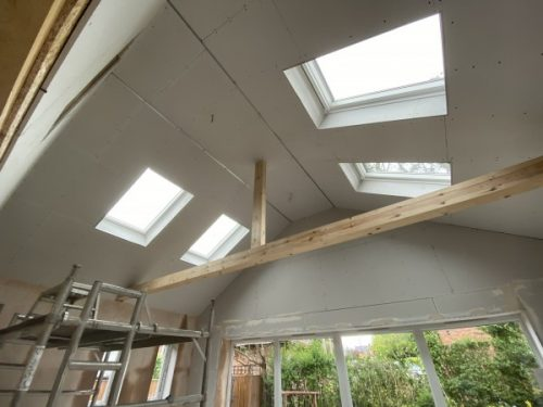 Rear Extension with Vaulted ceiling and Velux